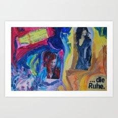 Alarm and Calm (Charlotte Gainsbourgh and Olga Grjasnowa) Art Print