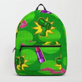 Cosmopolitan Pop Art Mixed Media Backpack
