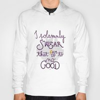 dumbledore Hoodies featuring I am up to no good by Earthlightened