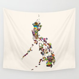 7,107 Islands   A Map of the Philippines Wall Tapestry