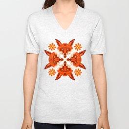 Fox Cross geometric pattern Unisex V-Neck