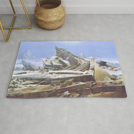The Sea of Ice - Caspar David Friedrich Rug