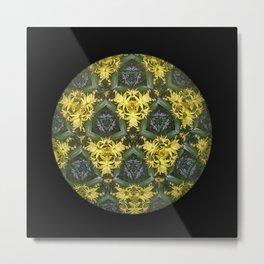 Kaleidoscopic Posies Metal Print
