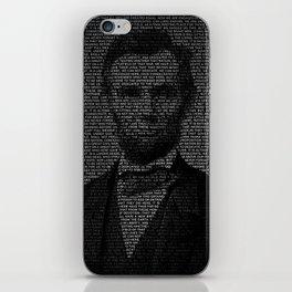 Abraham Lincoln - Gettysburg Address iPhone Skin