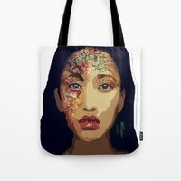 pocahontas Tote Bags featuring Pocahontas by FannikaRial