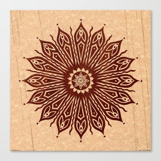 ozorahmi wood mandala Canvas Print