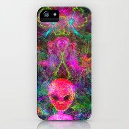 Kneel Before The Bubblegum Alien King (psychedelic) iPhone Case