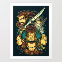 hobbit Art Prints featuring The Hobbit by anggatantama
