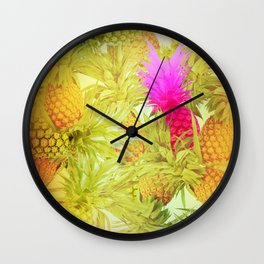 Pineapple Delight Wall Clock