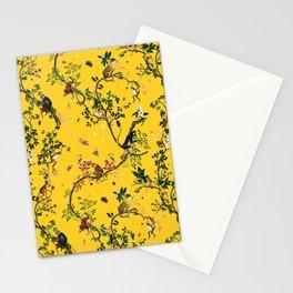 Monkey World Yellow Stationery Cards