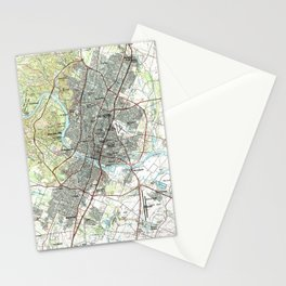 Austin map 1985  Stationery Cards