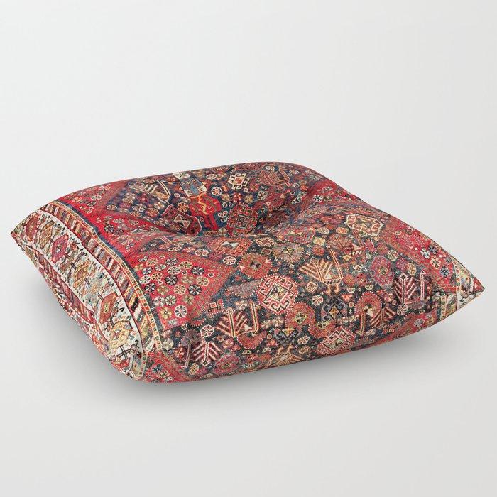 Qashqa'i Fars Southwest Persian Nomad Rug Print Floor Pillow