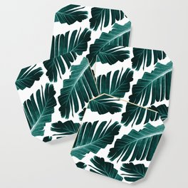 Tropical Banana Leaves Dream #1 #foliage #decor #art #society6 Coaster