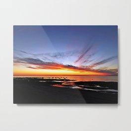 Spectacular Seaside Sunset Metal Print