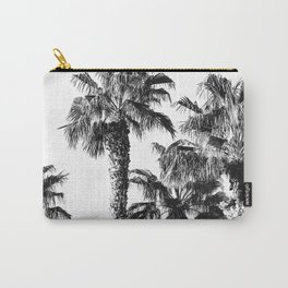 {2 of 2} Classic Palm Leaf Sky // Summer Black and White Palmtree Art Print Carry-All Pouch