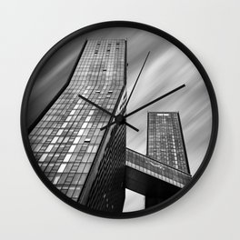 Apartment buildings in New York City Wall Clock