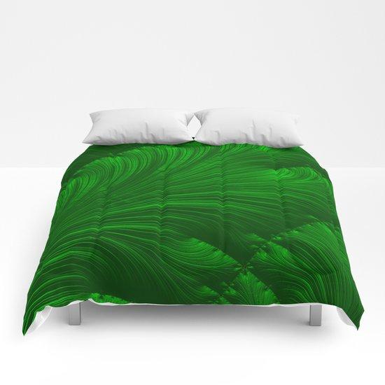 Renaissance Green Comforters