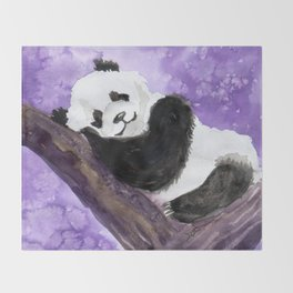 Panda bear sleeping Throw Blanket