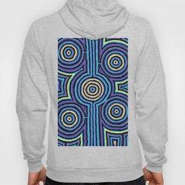 Authentic Aboriginal Art - Campsite Blue Hoody