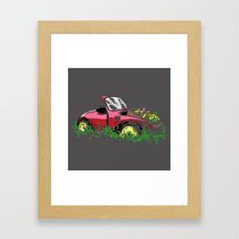 Retired Beetle Framed Art Print