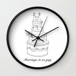 Marriage is so gay Wall Clock