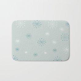 Abstract  Blue Snowflakes Background, christmas snowfall vector illustration Bath Mat