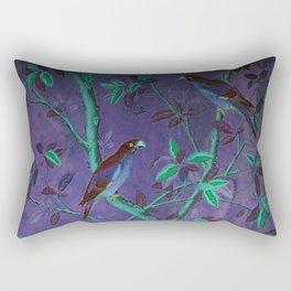Aubergine & Teal Chinoiserie Rectangular Pillow