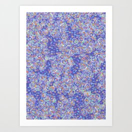Purple Spiral Art Print