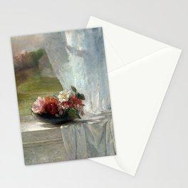 John La Farge Flowers on a Window Ledge Stationery Cards
