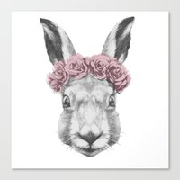 hare Canvas Prints featuring Hare  by Victoria Novak