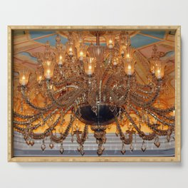 Chandelier Sparkle Serving Tray