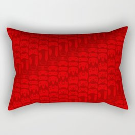 Video Game Controllers - Red Rectangular Pillow
