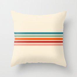 Rainbow Stripes II Throw Pillow