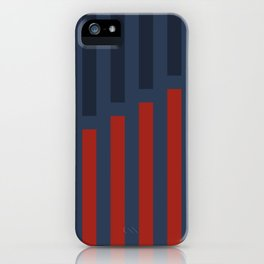 Vertically Red and Blue iPhone Case
