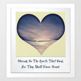 Bending Hearts Art Print