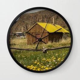 Wood House Wall Clock