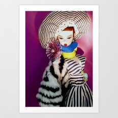 Primarily Stripes Art Print