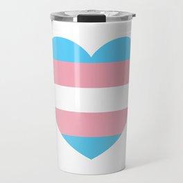 Trans Pride Heart Travel Mug
