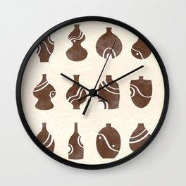 Terracotta Pots Wall Clock