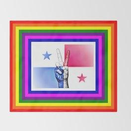 Panama World Peace Flag Throw Blanket
