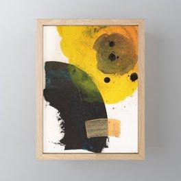 Solar eclipse #abstract #contemporary #artwork Framed Mini Art Print