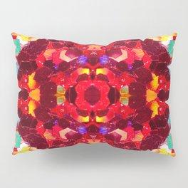 Red abstract mosaic shiny glitter pattern Mandala Pillow Sham