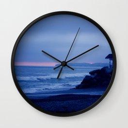 Fading Blue Light Wall Clock