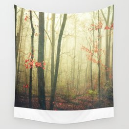 The Woods are Lovely Dark and Deep Wall Tapestry