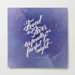 I Have Loved the Stars Too Fondly - Amethyst Purple Metal Print