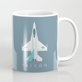 F-16 Falcon Fighter Jet Aircraft - Slate Coffee Mug