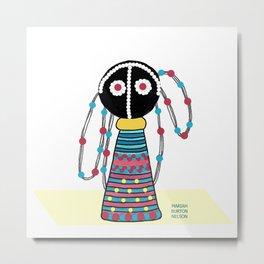 Ndebele Sangoma Doll, South Africa Metal Print