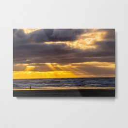 End of the Day Walk Metal Print
