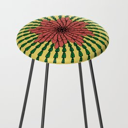 coral flower Counter Stool