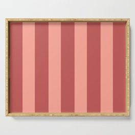 Dusty Rose Stripes Serving Tray